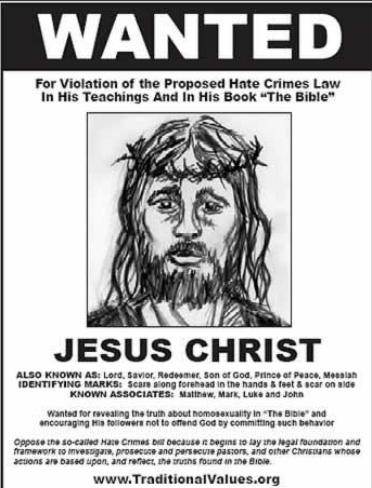 hate crimes bill protest poster
